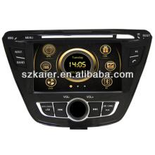 Hot wince 6.0 lecteur dvd de voiture pour Hyundai 2013 Elantra avec GPS / Bluetooth / Radio / SWC / Internet virtuel 6CD / 3G / ATV / iPod / DVR