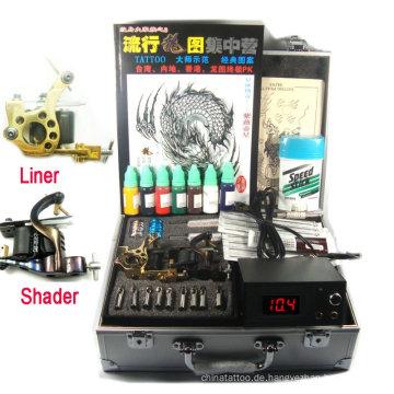 Professionelle digitale Stromversorgung Kupfer handgemachte Tattoo Kit