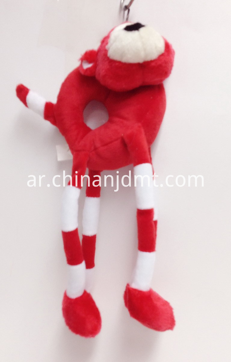 Red long-legged dog toy
