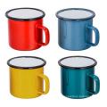 Wholesale custom logo printed steel metal enamel mug