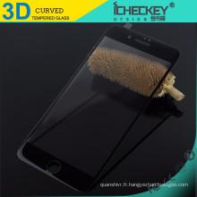 Verre trempé 3D en fibre de carbone pour iPhone 7