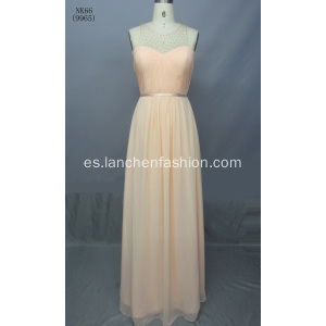 Un noble recta gasa vestidos de noche Formal