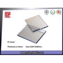 Folha transparente de PC com alta temperatura de transição de vidro