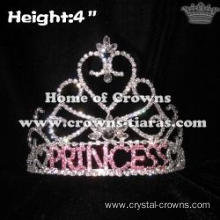 Rhinestones Pageant Crowns With Letter Princess
