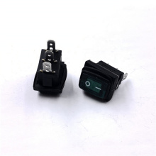 JEC JS-606-AL-Q-GB-3H-P  Green Square Water Proof Rocker Switch With 6V LED