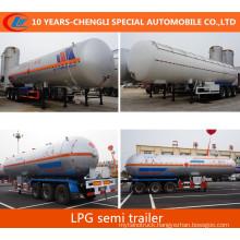 Asme Stadard LPG Transportation Semi Trailer 56000liters LPG Semi Trailer