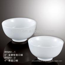 """4 """"best-seller de vaisselle pour hôtellerie et restaurant, bol en céramique"""