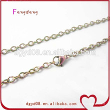 Rainbow stainless steel chain for memory lockets