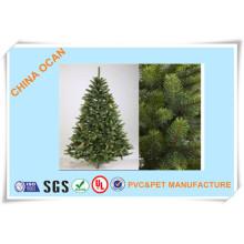 Film en plastique rigide de PVC de couleur verte de différentes catégories pour faire des feuilles d'arbre de Noël