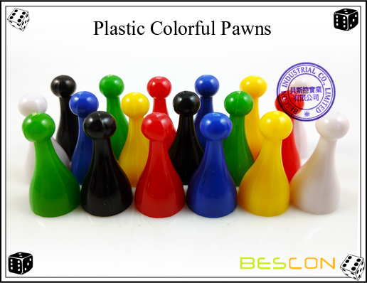 Plastic Colorful Pawns