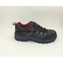 Fashion Designed Nubuck Leather Rubber Sole Safety Shoes Outdoor Shoes (16050)