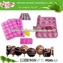 Molde de chocolate de silicone recentemente conveniente de grau alimentar
