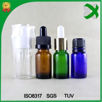 Botella de cuentagotas de vidrio Botella de aceite esencial de ámbar Botella de vidrio marrón