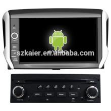 kapazitiver Bildschirm Dual-Core-Android 4.2 OS Auto GPS für Peugeot 208 mit GPS / Bluetooth / TV / 3G / WIFI