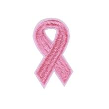 Патчи для вышивки в форме розовой ленты для одежды