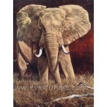 Afrikanische Kunst Elefanten Ölgemälde