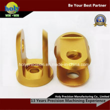 CNC-Gold eloxiert 6063 Alloy CNC Aluminiumteile