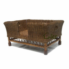 C-(4) hot sale rattan dog cage for sale cheap