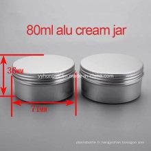 Haute qualité 80g Vazio Alumium Screw Cream Jar / Cream Container