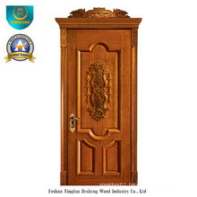 European Style Solid Wood Door with Carving (DS-018)