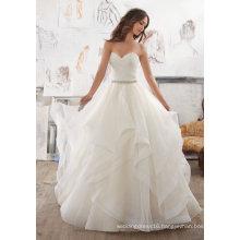 Strapless Organza Ladies Clothes Garment Bridal Ballgown (5504)