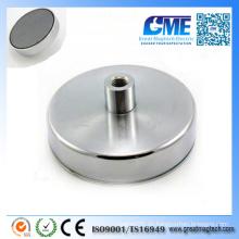 N42 D125X50mmxm14 Loch Neodym Pot Pot Permanent Magnet