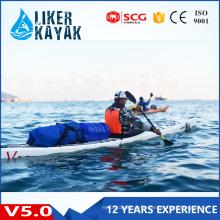 Top Quality Single Seat Plastic Hull Sea Rowing Kayak for Sale