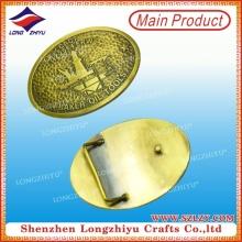 Kundenspezifische alte Goldguss-Gürtelschnalle Oval-geformte Metallgürtelschnalle