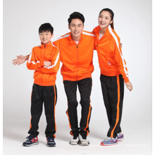 Survêtement blanc d'usage de sports de manches longues pour l'enfant et l'adulte