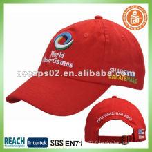 Bouts de baseball rouge brodé BC-0133