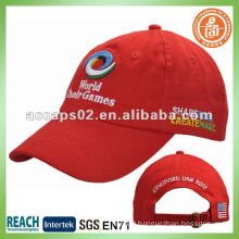 embroidery plain red baseball caps BC-0133
