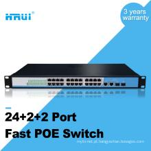 A cremalheira AP do OEM IPC / VOIP / sem fio montou 10 / 100M 48v interruptores do ponto de entrada de 24 portos