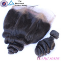 Original human hair Indian remy hair 360 lace frontal loose wave