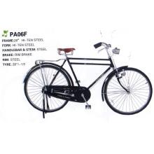 Afrique Bicyclette traditionnelle à cadre en acier Hiten de 28 po à double barre (FP-TRDB-050)
