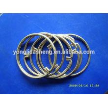 2016 anel quente popular do metal da venda e gancho e laço elegantes com preço barato