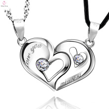 2017 Summer Hot Eterniti Silver Couple Love Heart Pendant Necklace
