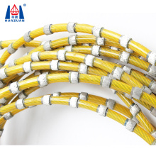 Diamond rope wire saw beads for block stone concrete cutting squaring profiling