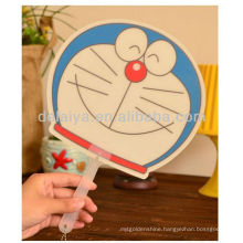 Summer promotional cartoon PP hand fan for kids and adults.