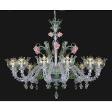 Transparent Flower Shape Modern Glass Chandelier (81068-12)