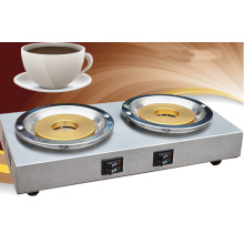 Two head stainless coffee stove