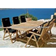 Juego de muebles de jardín / madera maciza de madera maciza de teca