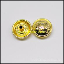 Cor de ouro brilhante botão Snap para casaco