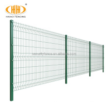High quality decorative garden pvc coated 6 gauge v folds 3d welded curved wire mesh fence panels