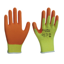 Good Grip Polycotton With Latex Crinkle Orange construction Reinforcing Bars Work Work Gloves