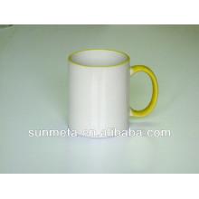 Tasse de couleur sublimation 11oz jaune