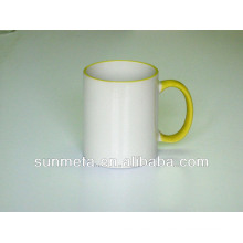 Сублимационная цветная кружка 11oz желтая