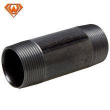 pezones de tubo de acero atornillados largos negros con el estándar ruso