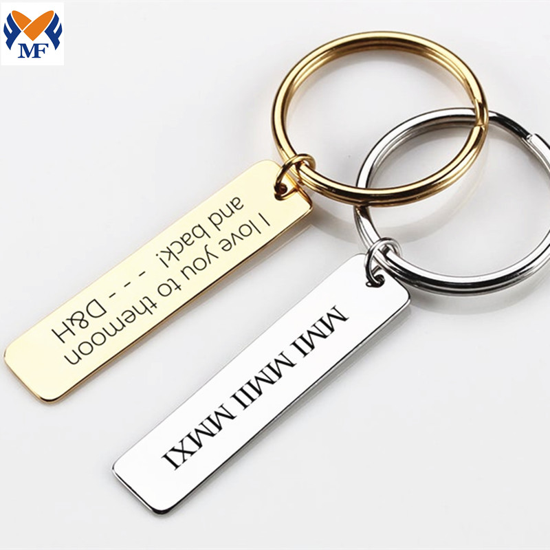 Stainless Steel Initials Keychain