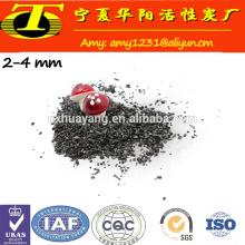 Tratamento de água com carvão ativado químico granular