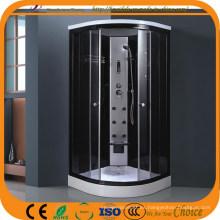 Bañeras de ducha de baja base de vapor de marco de aluminio negro (ADL-827)